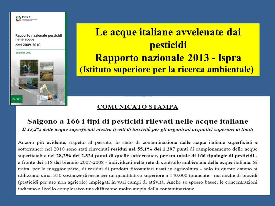 Le acque italiane avvelenate dai pesticidi
