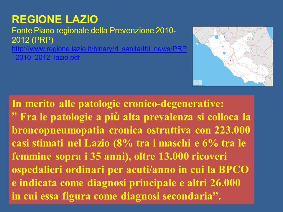 In merito alle patologie cronico-degenerative: