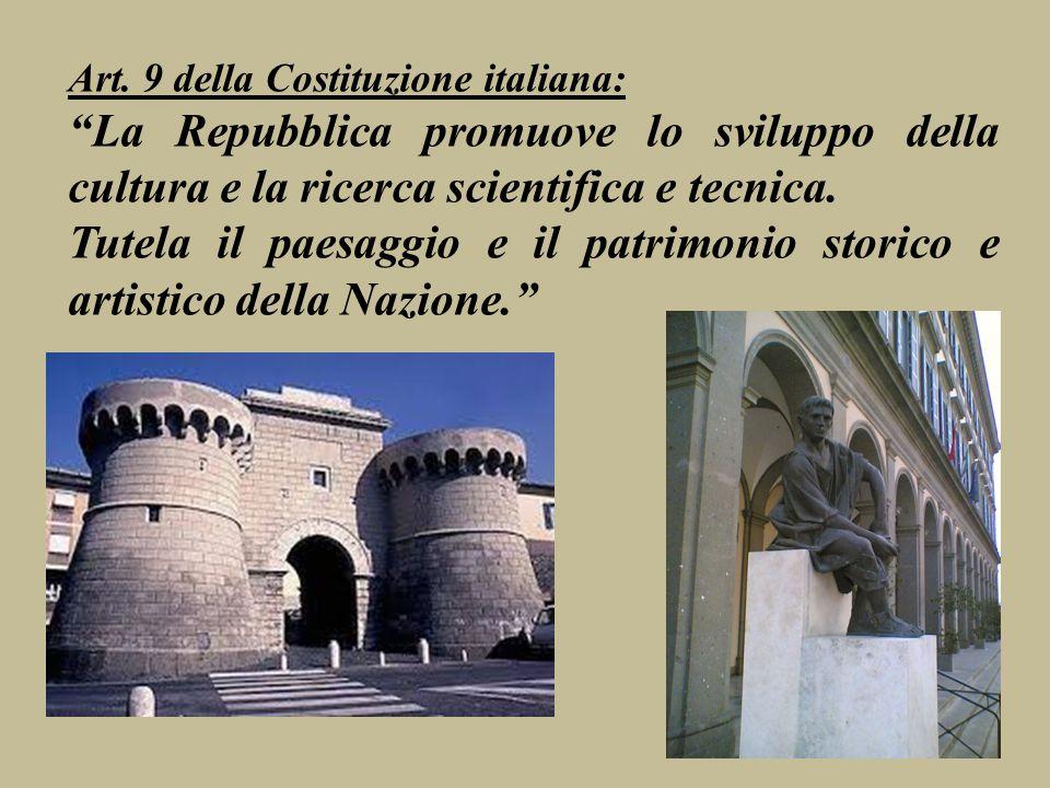 Art. 9 della Costituzione italiana: