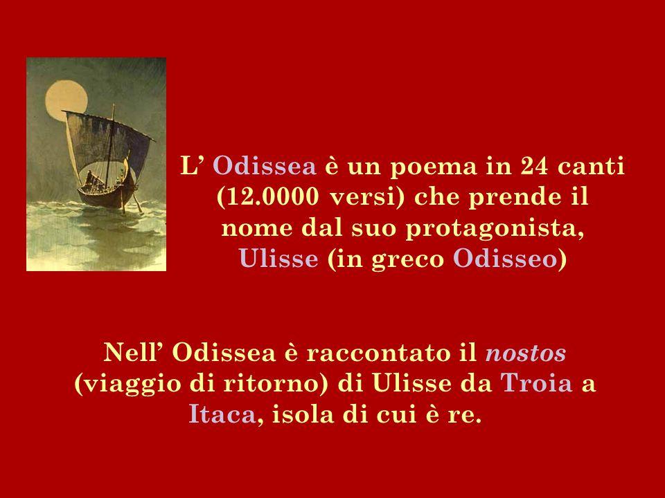 L' Odissea è un poema in 24 canti (12