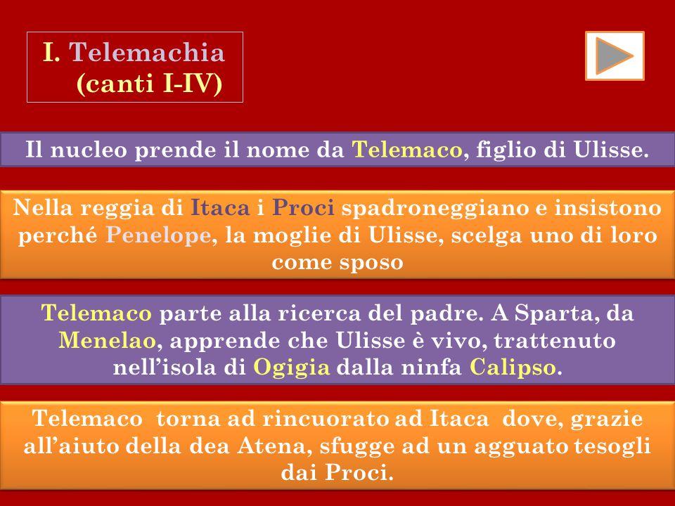 I. Telemachia (canti I-IV)