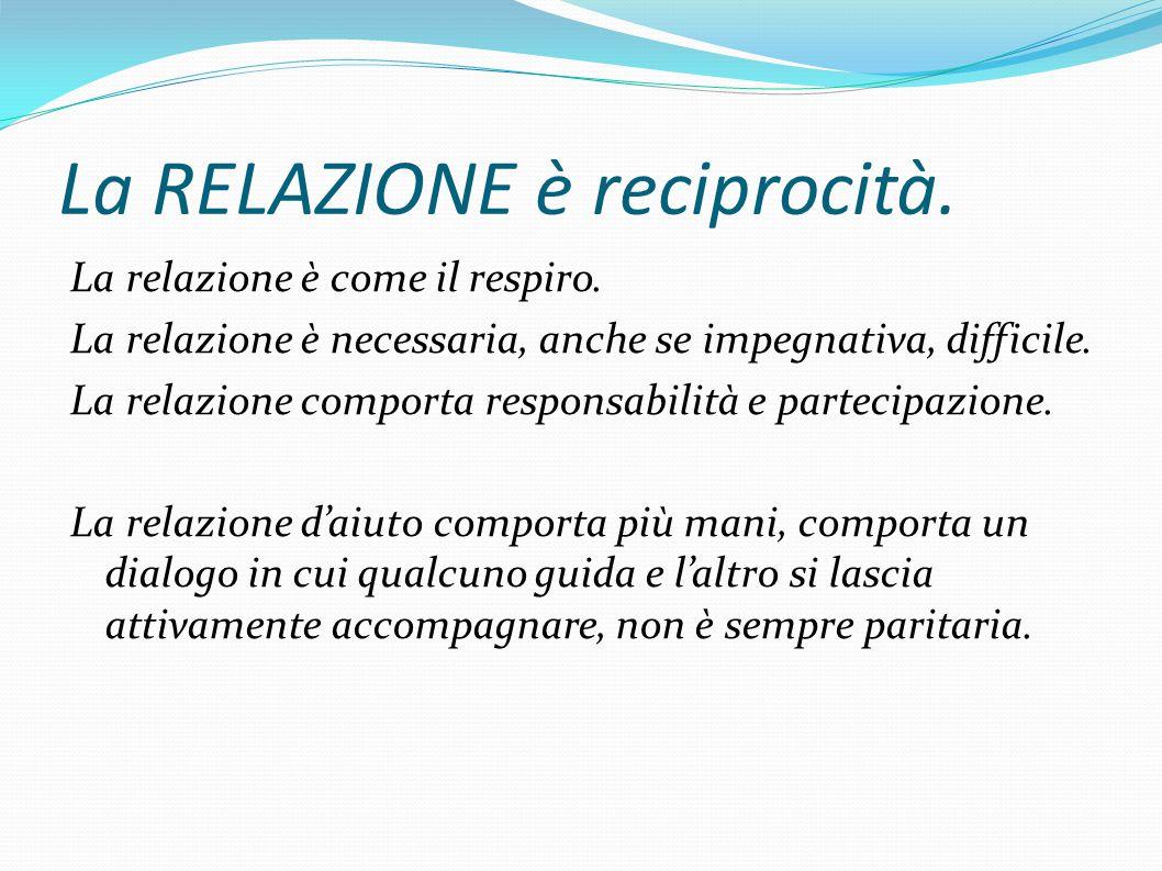 La RELAZIONE è reciprocità.