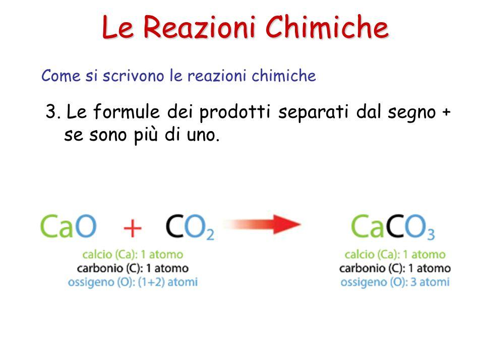 Le Reazioni Chimiche Come si scrivono le reazioni chimiche.