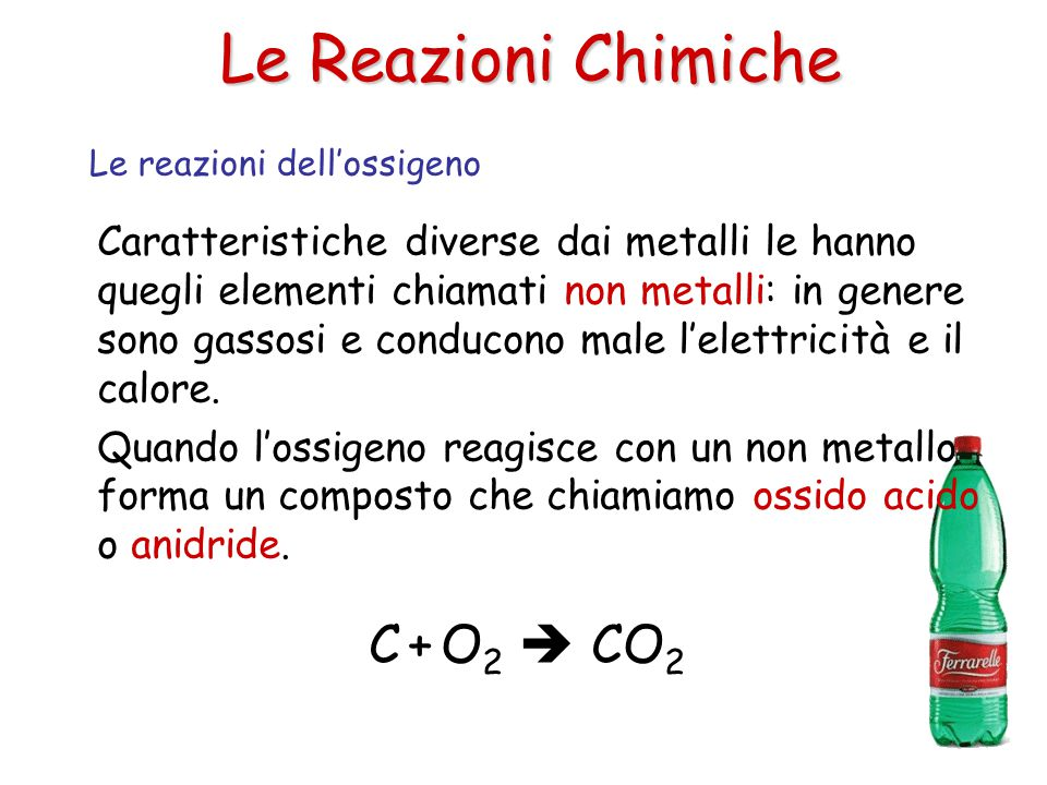 Le Reazioni Chimiche C + O2  CO2