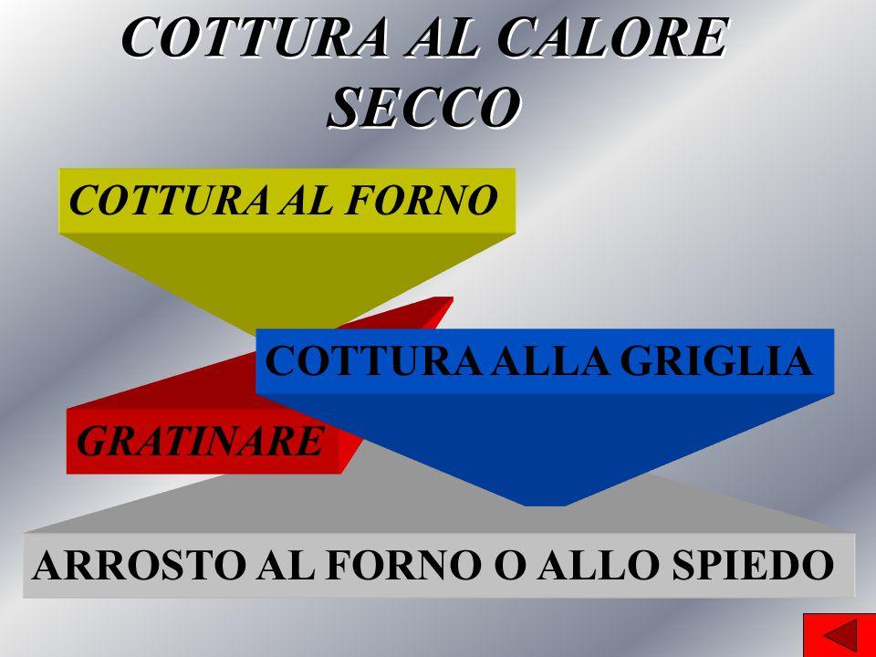 COTTURA AL CALORE SECCO