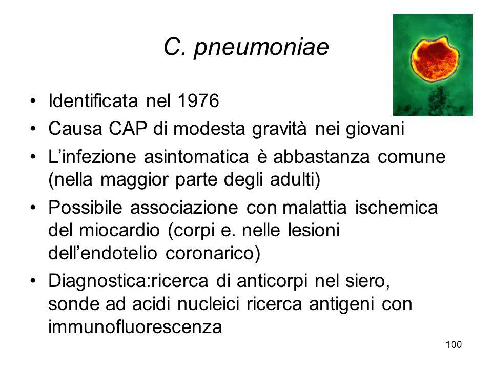 C. pneumoniae Identificata nel 1976