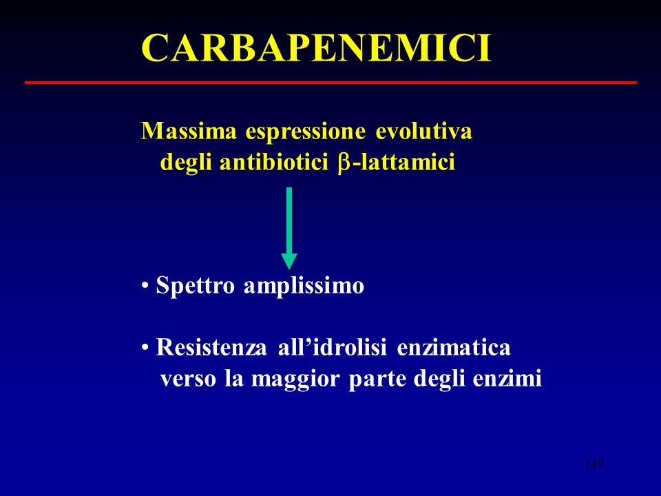 CARBAPENEMICI Massima espressione evolutiva