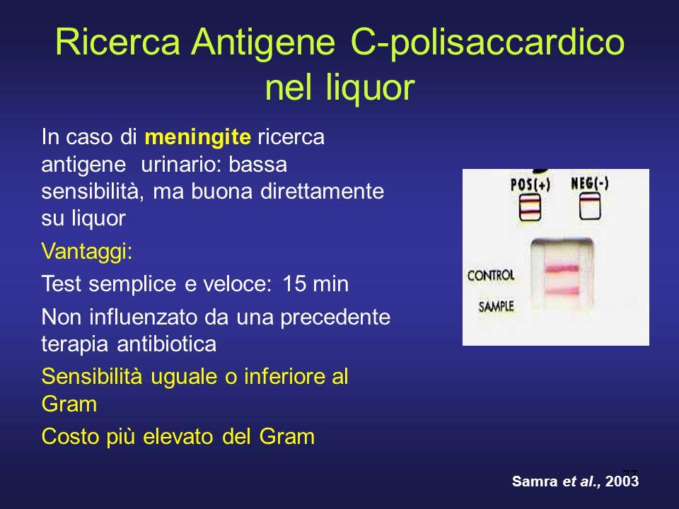 Ricerca Antigene C-polisaccardico nel liquor