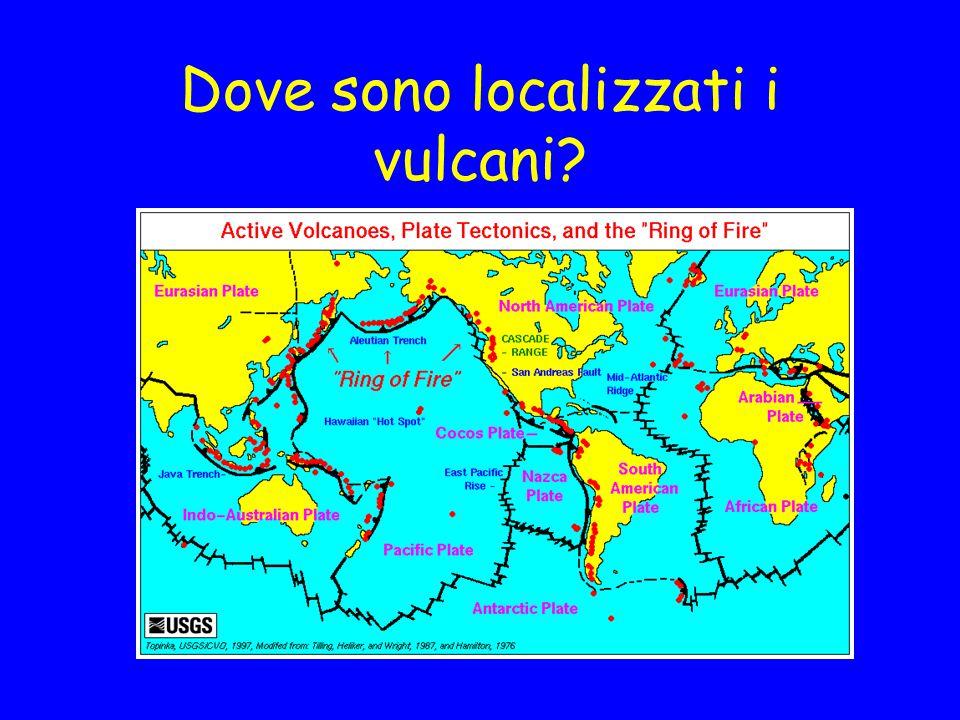 Dove sono localizzati i vulcani