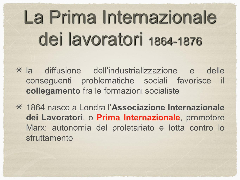 La Prima Internazionale dei lavoratori 1864-1876