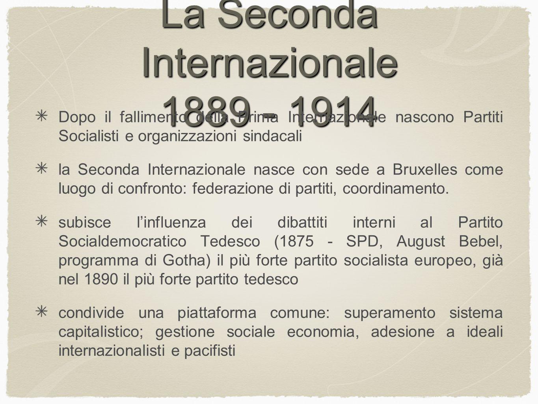 La Seconda Internazionale 1889 - 1914