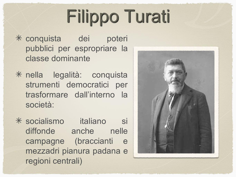 Filippo Turati conquista dei poteri pubblici per espropriare la classe dominante.