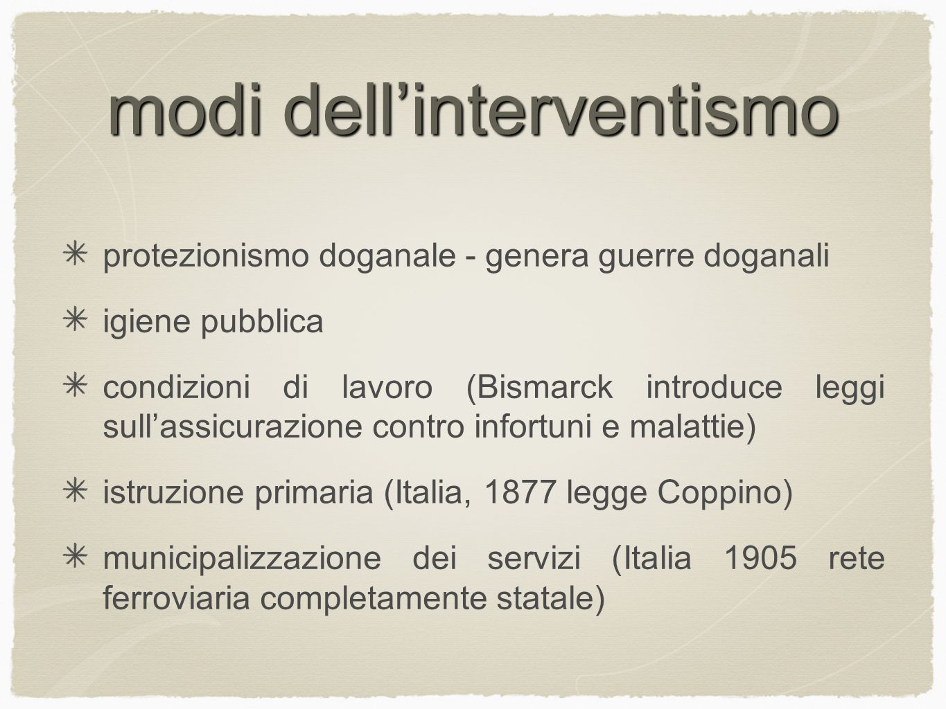 modi dell'interventismo