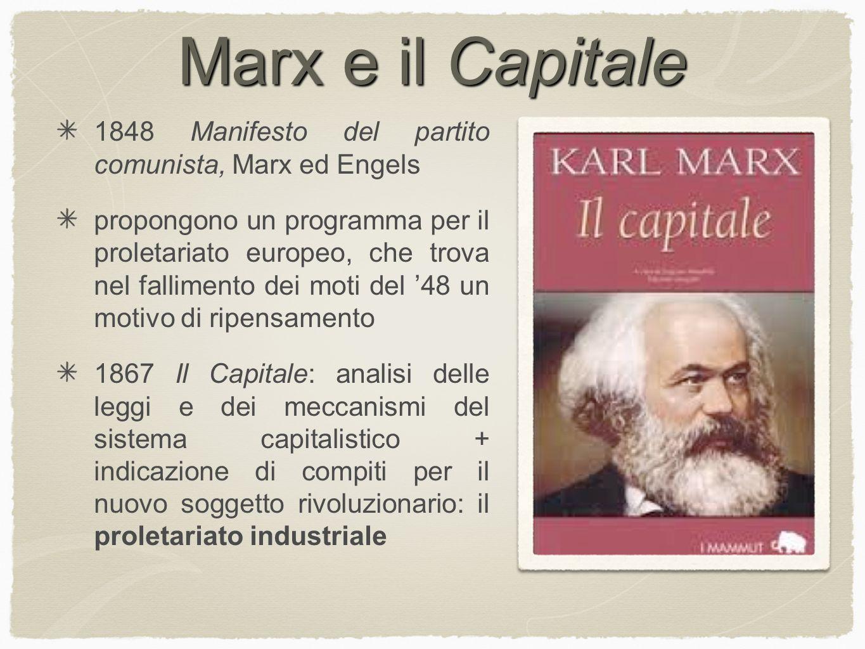 Marx e il Capitale 1848 Manifesto del partito comunista, Marx ed Engels.