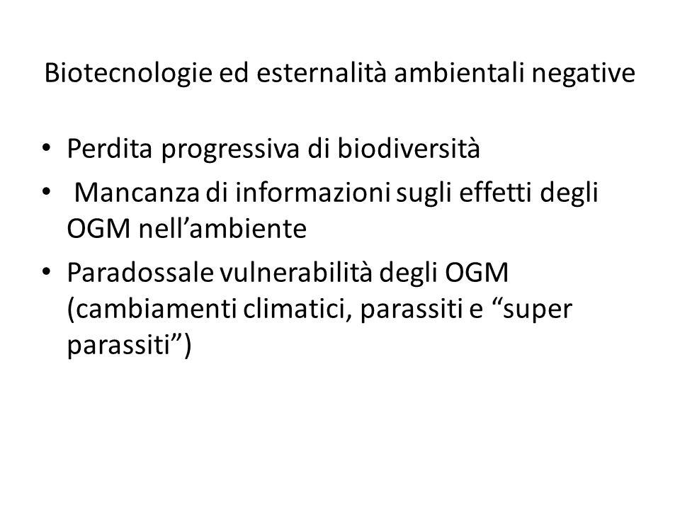 Biotecnologie ed esternalità ambientali negative