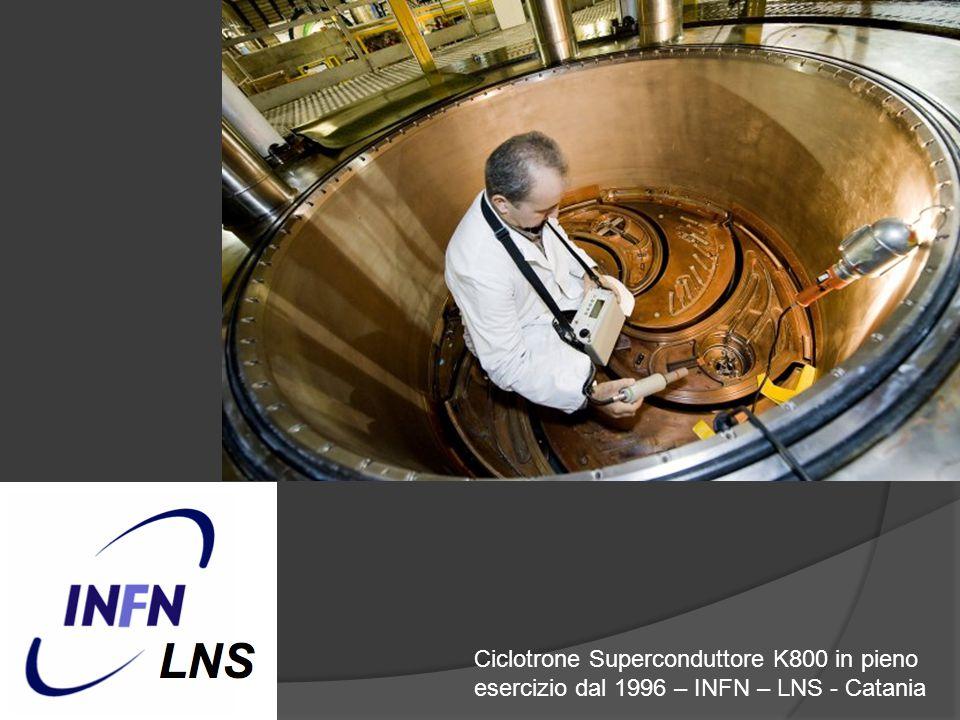 Ciclotrone Superconduttore K800 in pieno esercizio dal 1996 – INFN – LNS - Catania