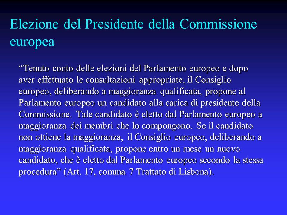 Elezione del Presidente della Commissione europea