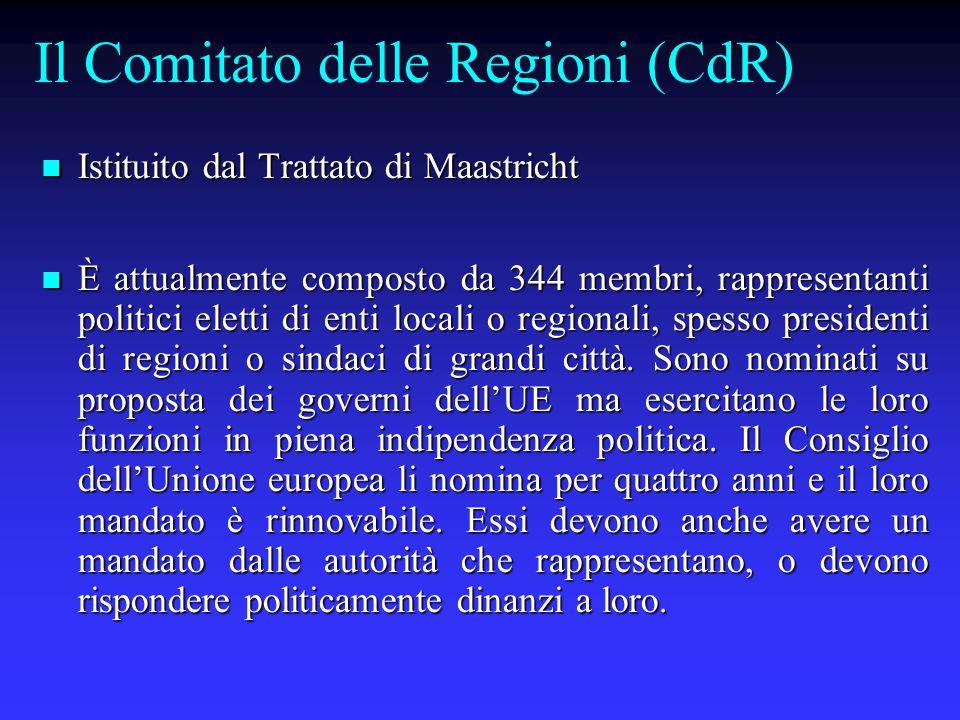 Il Comitato delle Regioni (CdR)