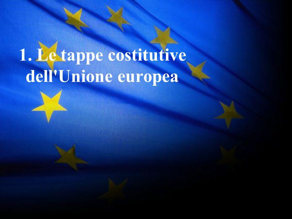 1. Le tappe costitutive dell Unione europea