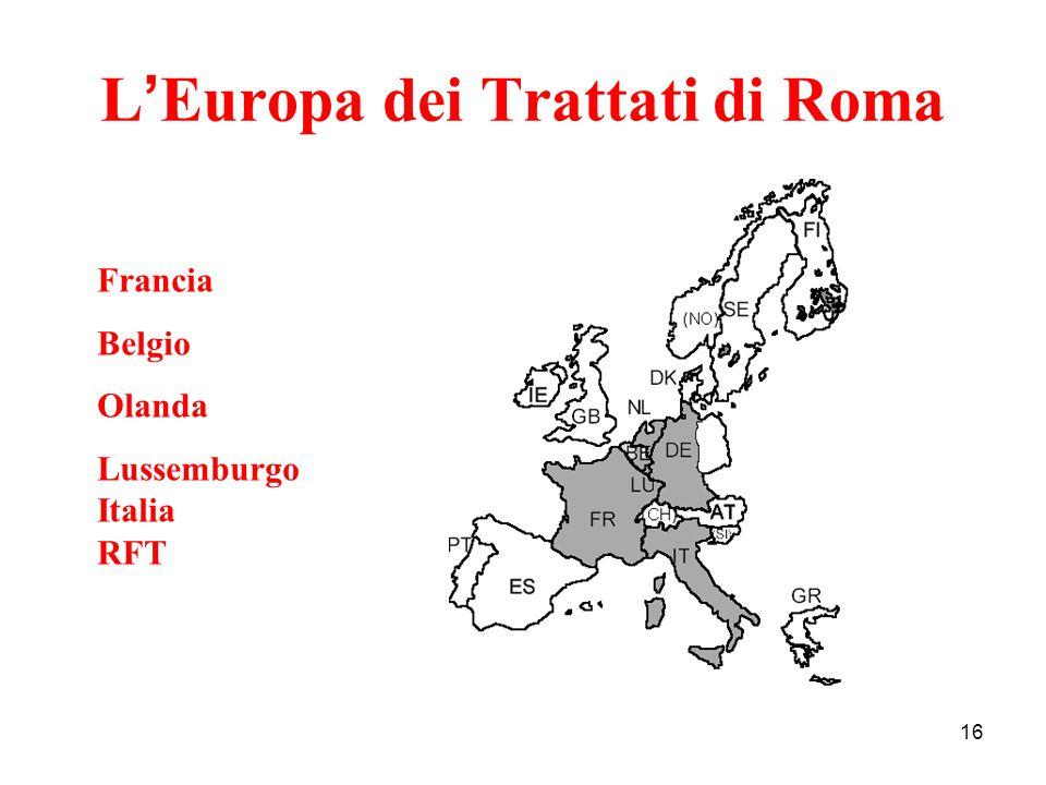 L'Europa dei Trattati di Roma