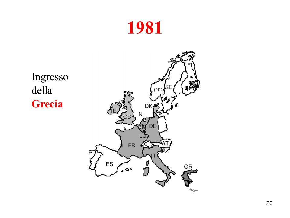 1981 Ingresso della Grecia
