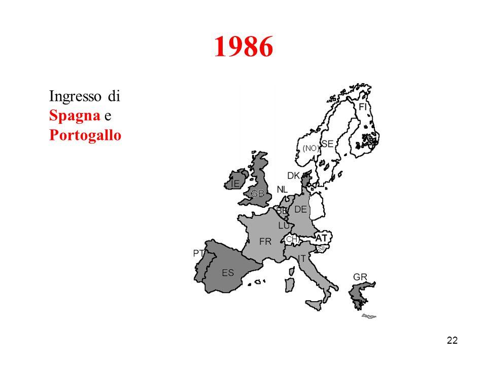 1986 Ingresso di Spagna e Portogallo