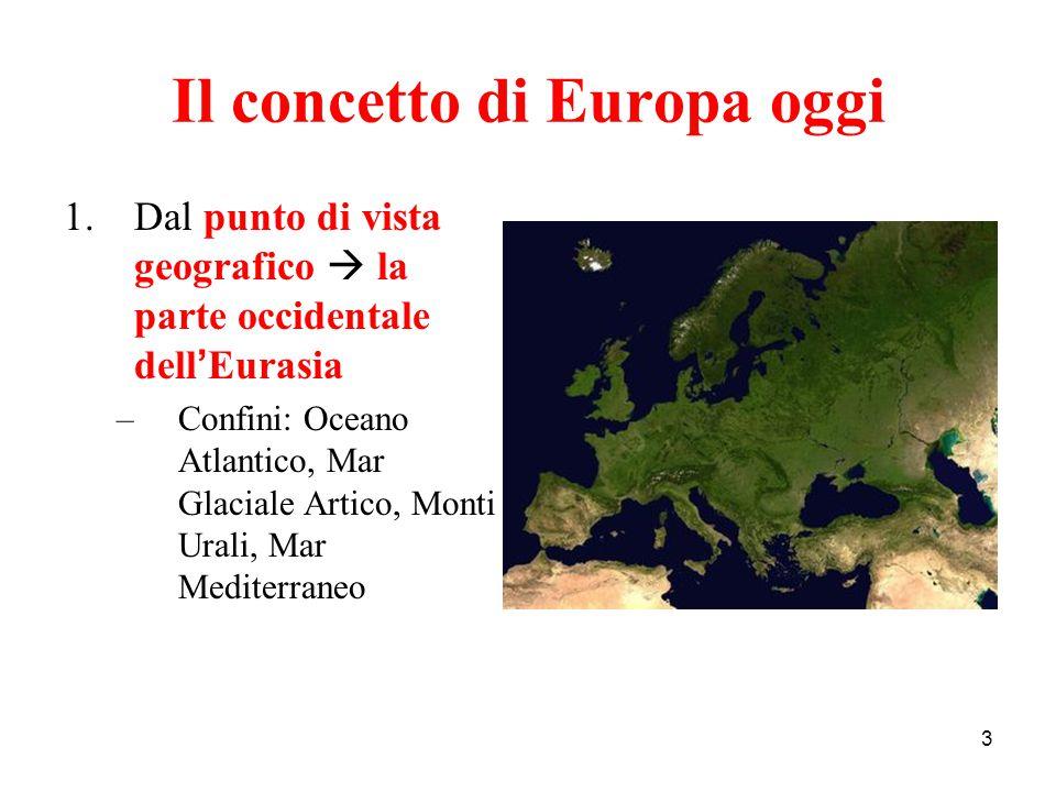 Il concetto di Europa oggi