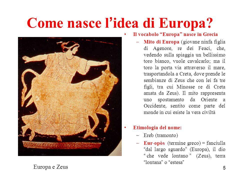 Come nasce l'idea di Europa
