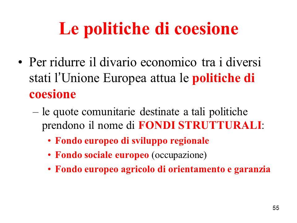 Le politiche di coesione