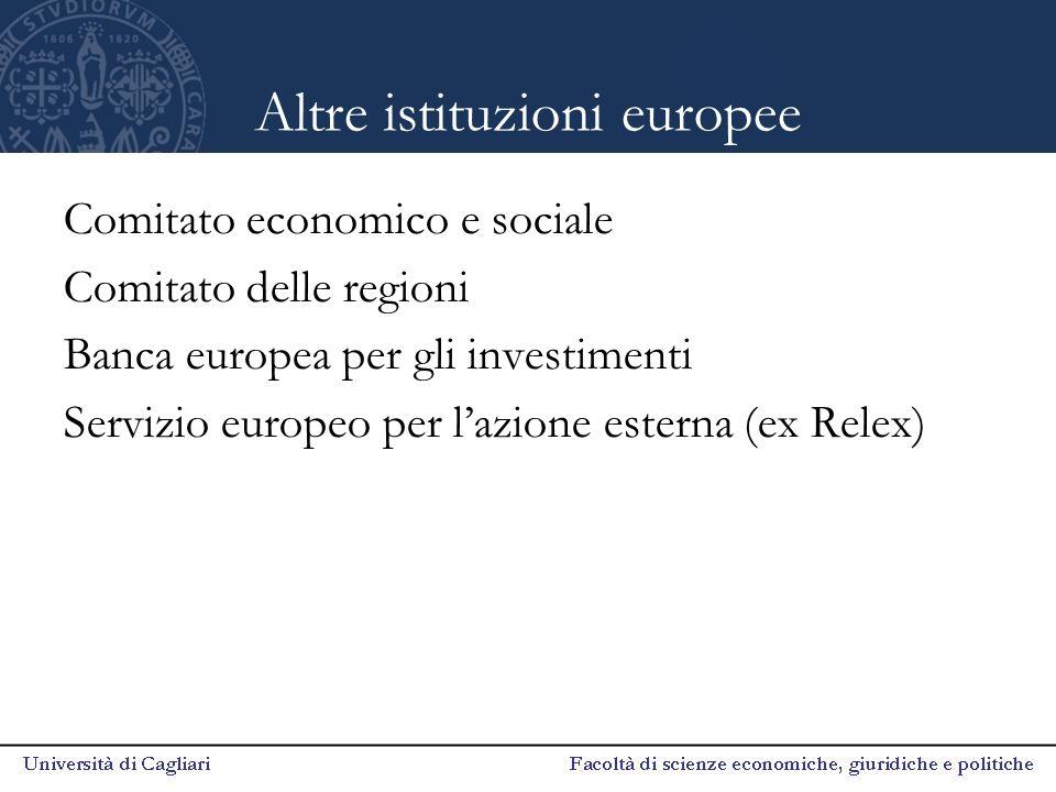 Altre istituzioni europee