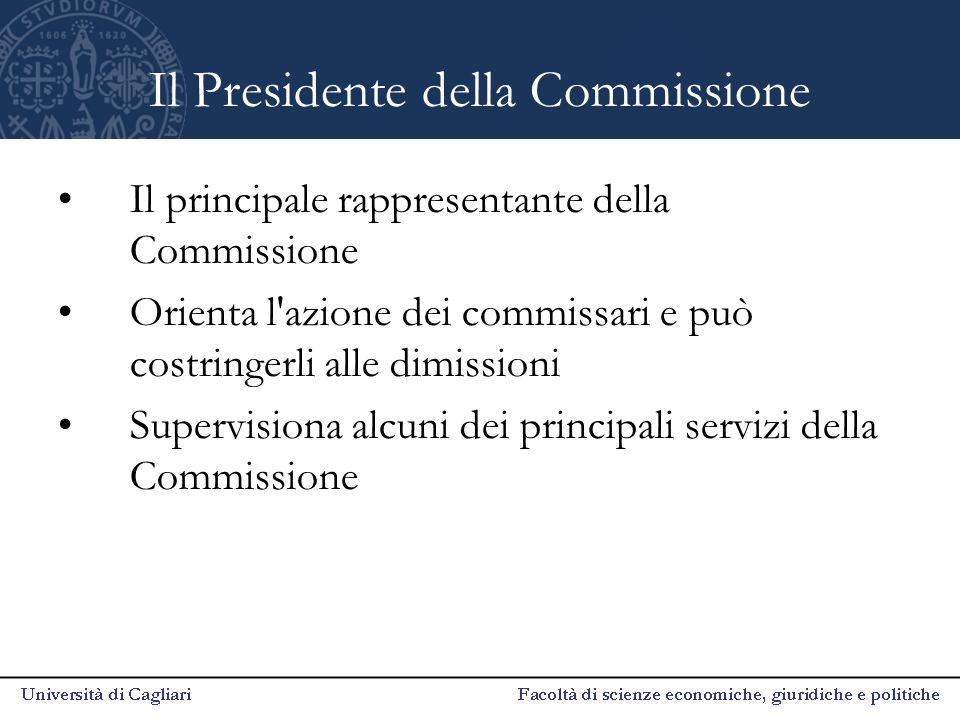 Il Presidente della Commissione