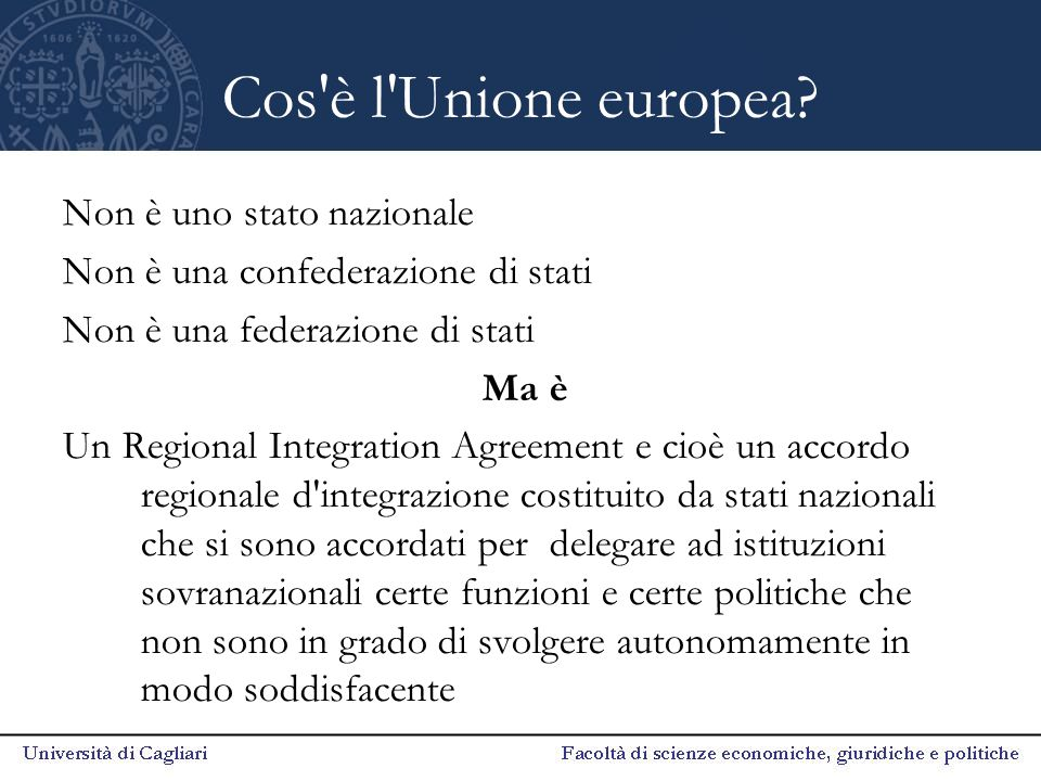 Cos è l Unione europea Non è uno stato nazionale