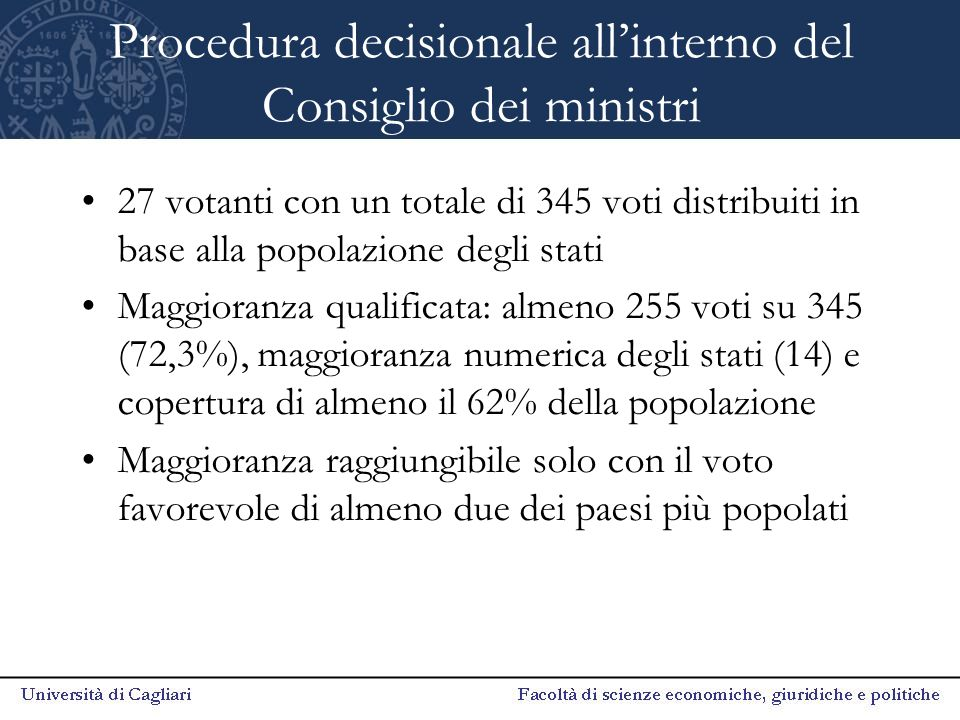 Procedura decisionale all'interno del Consiglio dei ministri