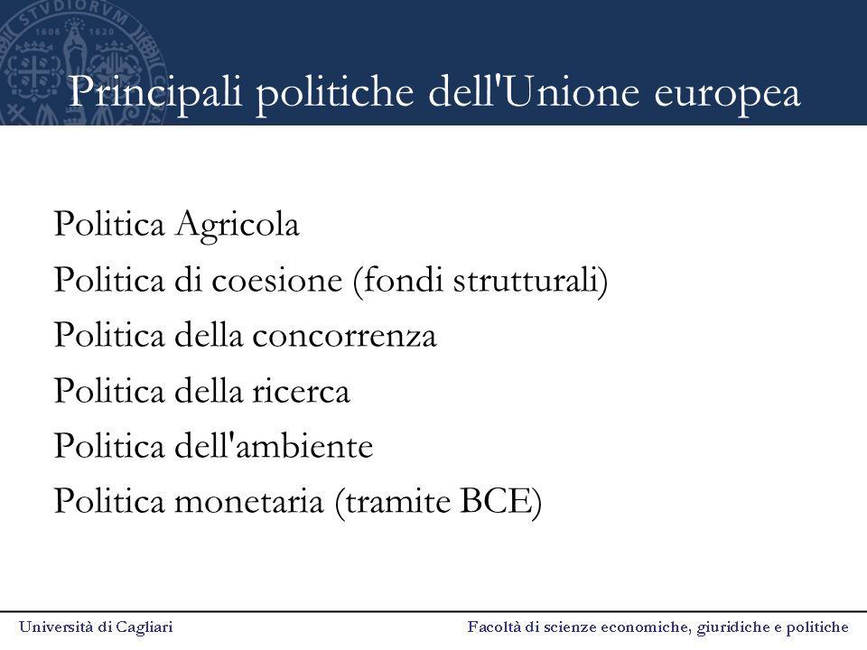 Principali politiche dell Unione europea