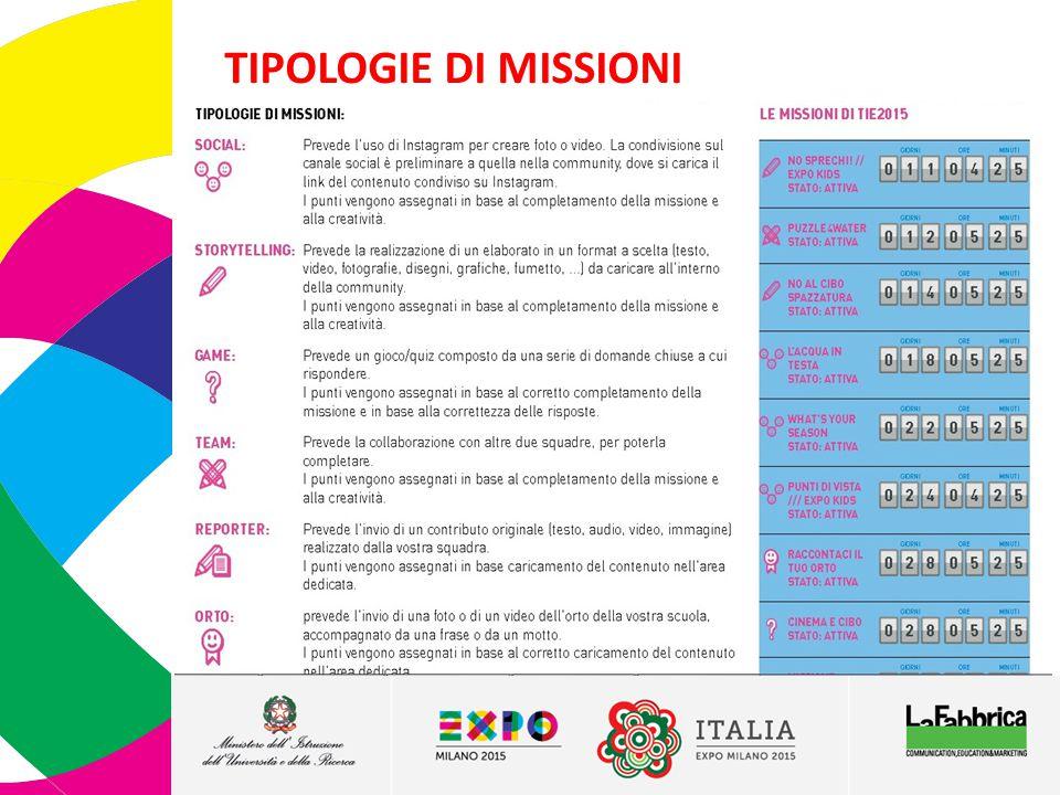 TIPOLOGIE DI MISSIONI 6 6