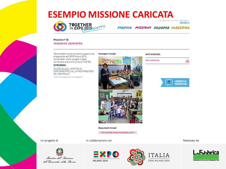 ESEMPIO MISSIONE CARICATA