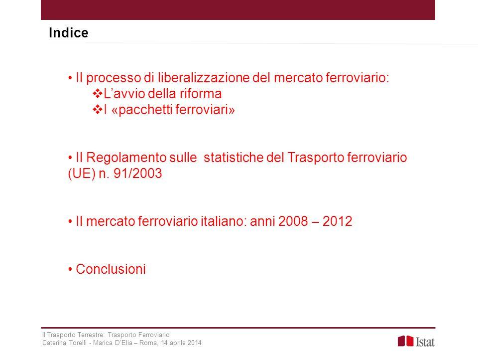 Il processo di liberalizzazione del mercato ferroviario: