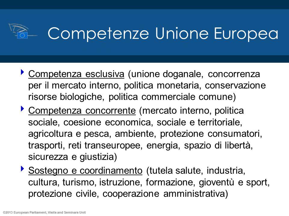 Competenze Unione Europea