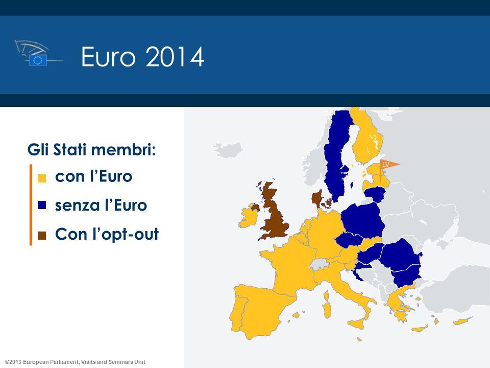 Euro 2014 con l'Euro senza l'Euro Con l'opt-out Gli Stati membri: