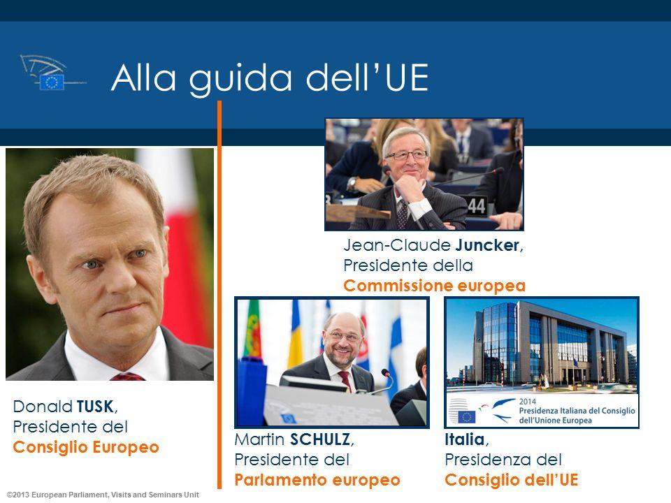 Alla guida dell'UE Jean-Claude Juncker, Presidente della Commissione europea. Martin SCHULZ, Presidente del Parlamento europeo.