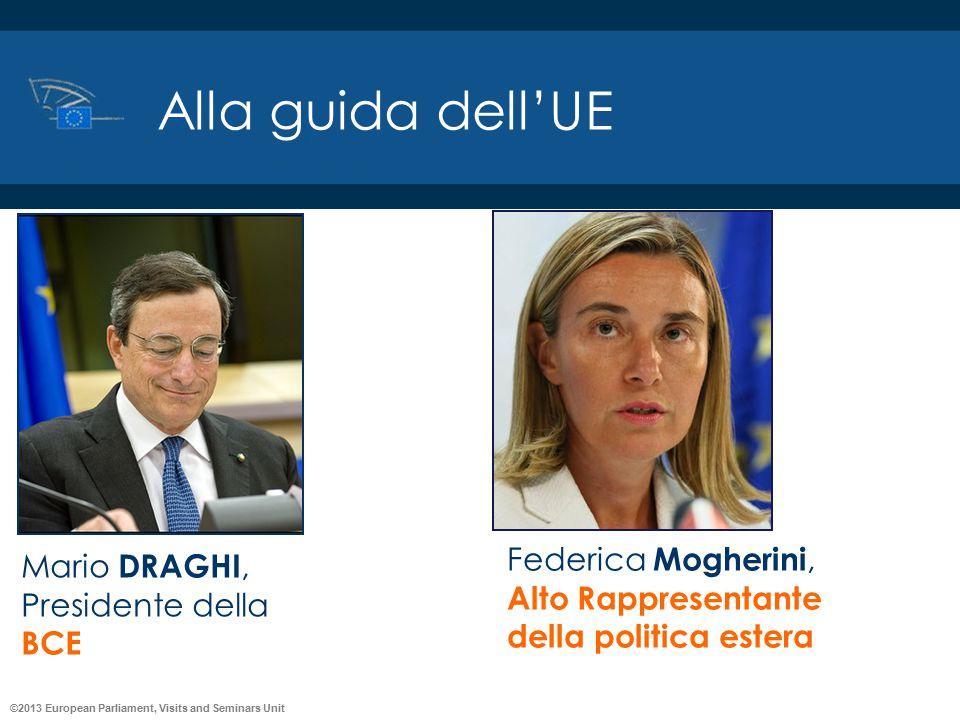 Alla guida dell'UE Federica Mogherini, Mario DRAGHI,