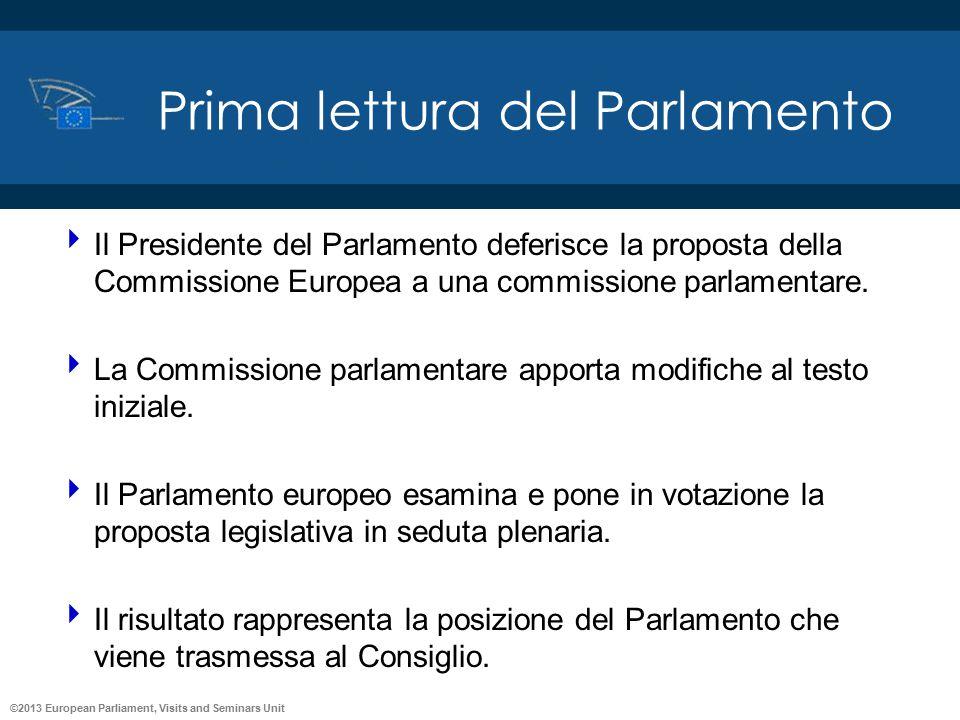 Prima lettura del Parlamento