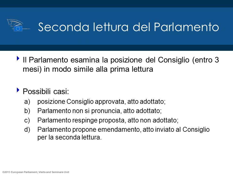 Seconda lettura del Parlamento