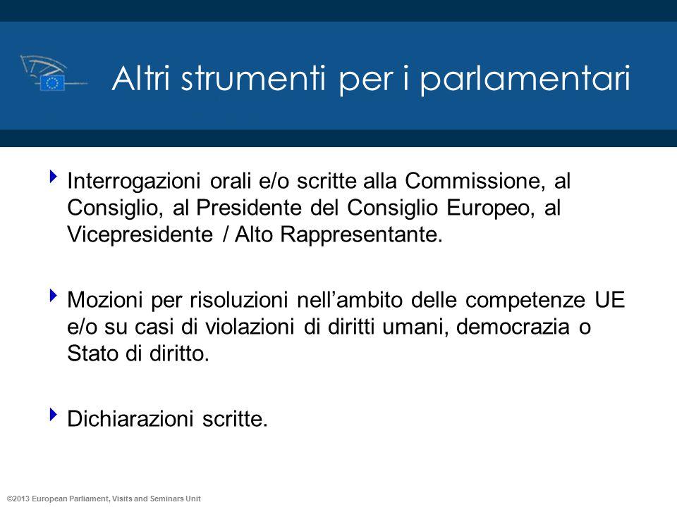 Altri strumenti per i parlamentari