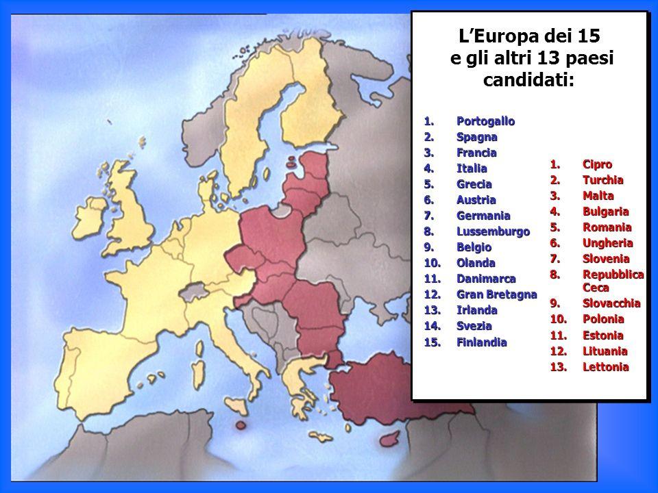e gli altri 13 paesi candidati:
