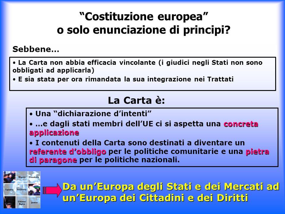 Costituzione europea o solo enunciazione di principi