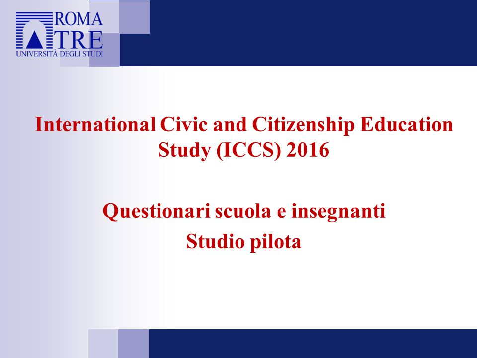 International Civic and Citizenship Education Study (ICCS) 2016