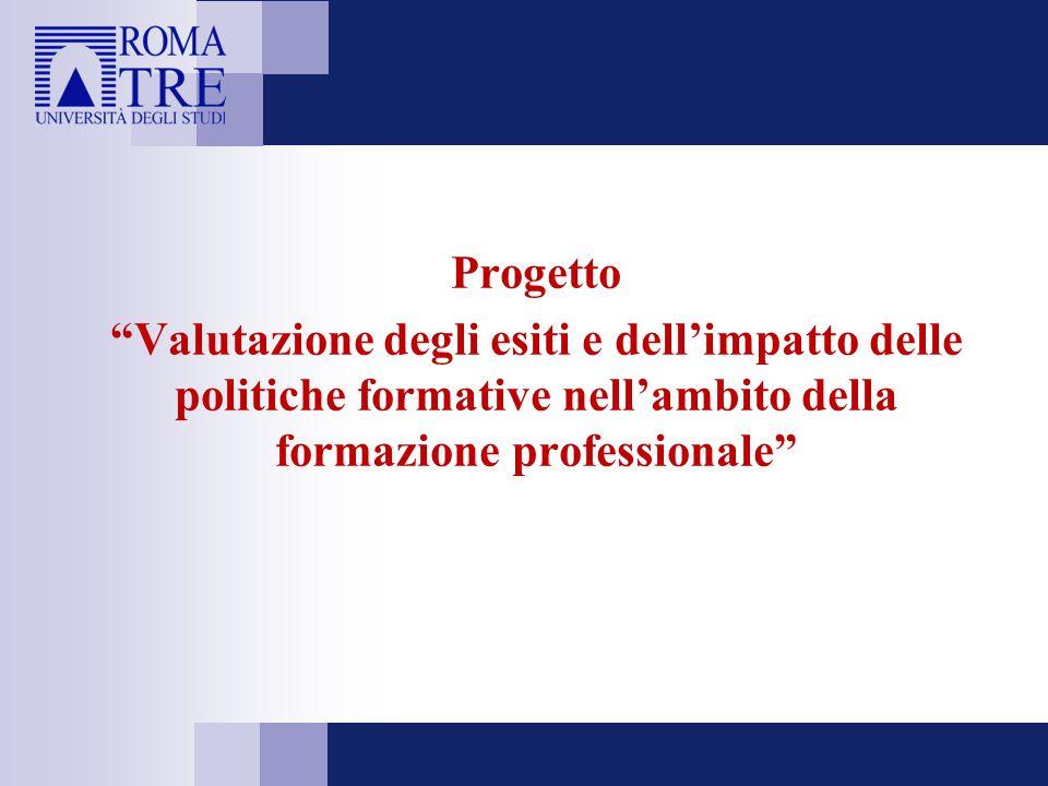 Progetto Valutazione degli esiti e dell'impatto delle politiche formative nell'ambito della formazione professionale
