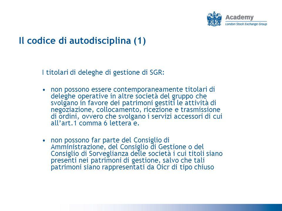 Il codice di autodisciplina (1)