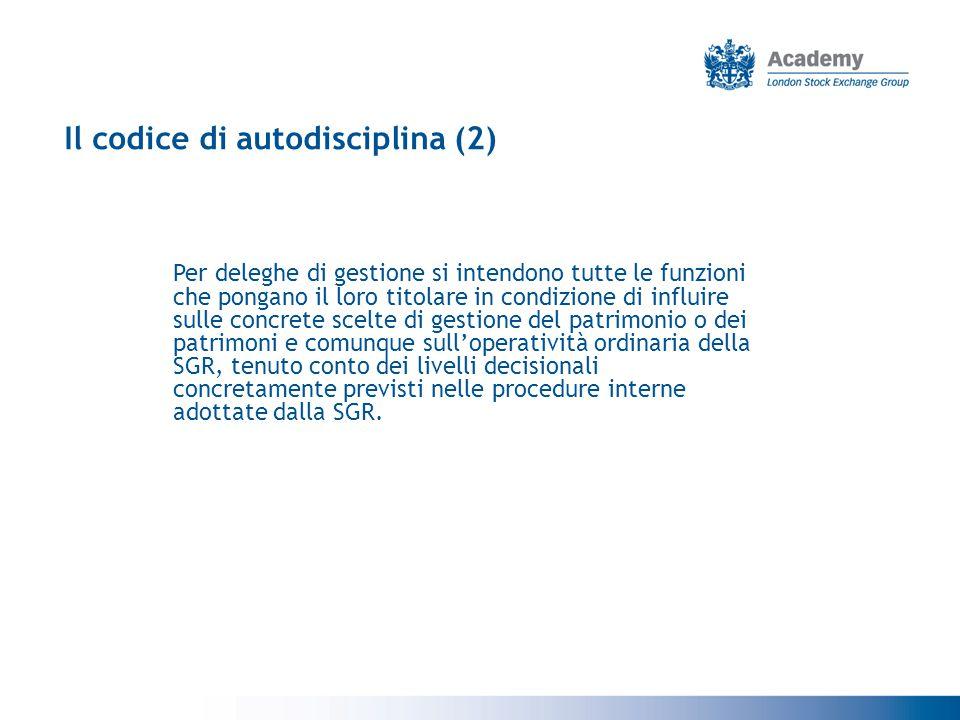 Il codice di autodisciplina (2)